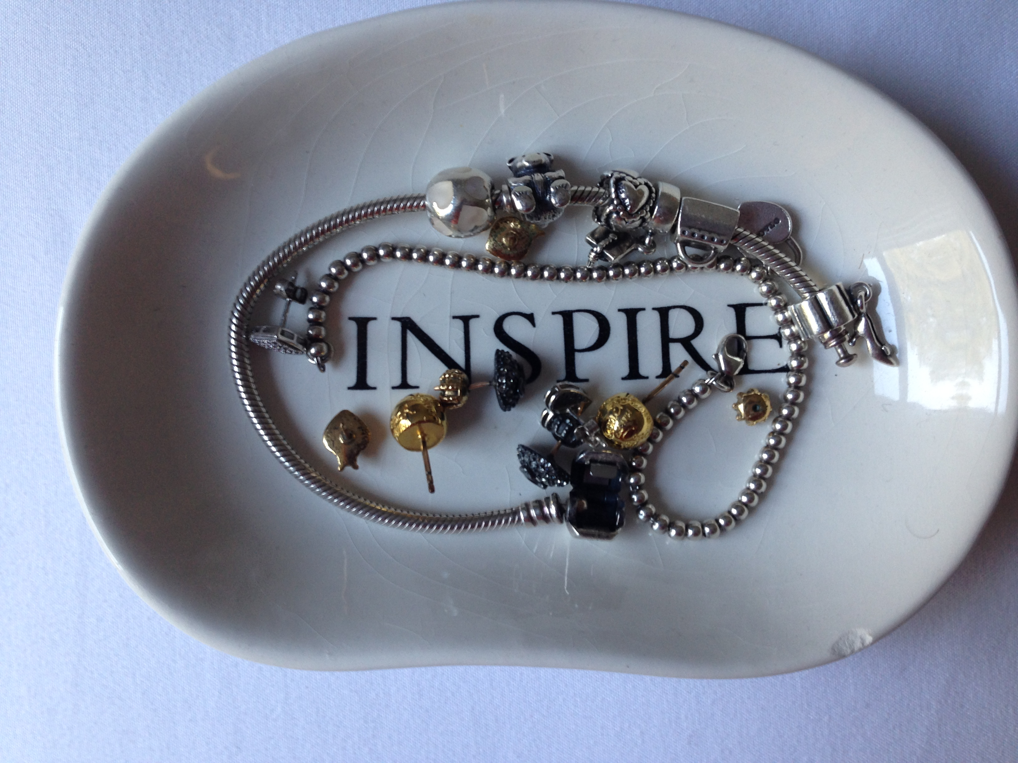 what inspires me edgeofgloryny words are powerful i love everything chic and glamorous this jewelry tray screams fabolousity the word inspire reminds me to be the best person i can